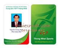 thẻ nhân viên , TDTT Thống Nhất
